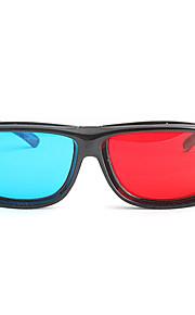 m&k alta definición rojo azul miopía apriete pieza de trajes de gafas 3D para ordenador y el televisor (3 piezas)