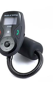 Bluetooth håndfri FM Transmitter USB / SD-kort MP3 Format musik spiller med multi-funktion fjernbetjening