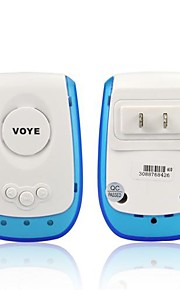 Angibabe VOYE Wireless Plastic Door Bell with US Plug - White + Translucent Blue