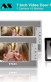 tmax® 7 inch kleuren TFT LCD video deurtelefoon met 420TVL nachtzicht camera (1camera naar 2monitors)
