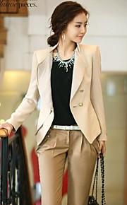 OuRuoFu Women's Korean Elegant Slim Fit Stand Collar Outwear