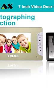 "tmax® 7 ""lcd fotograferen video deurtelefoon deurbel huis ingang intercom met 500tvl night vision camera"