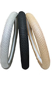 lebosh ™ naturlig hånd-flettet is silksteering hjulkapsel