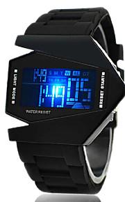 LED-Armbanduhr, V Edition, Silikonarmband (schwarz)