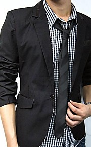 Men's Casual Black Slim Small Leisure Blazer Suits