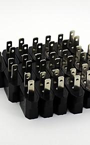 Universal nos viajar enchufes adaptadores de energía de corriente alterna (20 / pack 110v-240v)