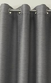 rideau d'occultation moderne gris solide (deux panneaux)