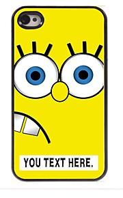 personalisierte Fall Cartoon yellow design Metallkasten für iphone 4 / 4s