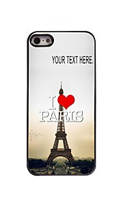 personlig sag i love paris eiffeltårnet design metal etui til iPhone 5 / 5s