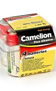 camelion plus alkaline c formaat batterij in plastic doos van 4 stuks