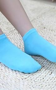 pares skymoto®5 / colores sólidos finos lote de las mujeres ponen en cortocircuito calcetines (mezclar colores)