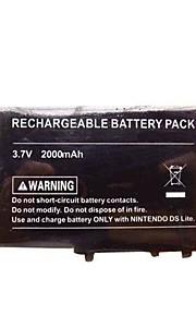 2000mAh oplaadbare lithium-ion batterij + gereedschap + pen pack voor nintendo dsl ndsl