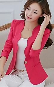 yibeier® kvinders candy farve slim fit langærmet blazer