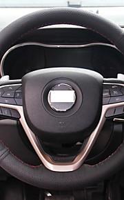 Xuji ™ sort ægte læder rat dækning for Jeep Grand Cherokee 2014