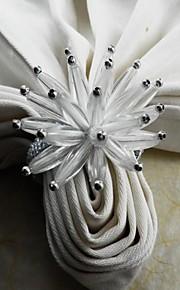 Acrylblumenserviettenring, Acryl, 4,5 cm, 12er Set