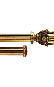 50mm Diameter Retro Antique Gold Wood Double Rod
