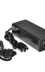 nieuwe 135w 12v ac adapter lader met stroomkabel voor microsoft xbox360 slim brick-zwart