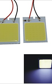 carking ™ T10 / BA9S / festoen 28mm ~ 40mm 6.7W 48-cob led wit auto-interieur lichtkoepel (2 stuks)