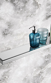 badrum hyllor, samtida spegel polerad rostfri stålmaterial glashylla, badrum tillbehör
