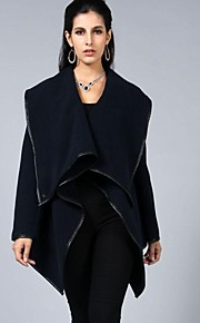 Women's European Style Assymetrical Trench Coat