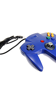 usb n64 design pc controller blå