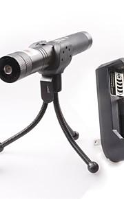 lt-0676 mise au point réglable brûlant léger coupe kits vert et rouge pointeur laser (1mw, 532nm / 650nm, 1xcr18650)