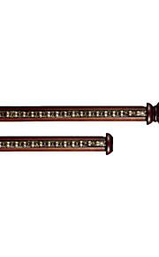 Diámetro 33 mm de madera de color rojo antiguo retro de lujo doble varilla