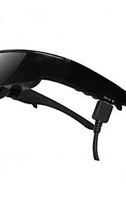 GLOWOR 98 Inch 3D Video Glasses Goggles 1080P HMD Portable Personal Cinema Theater Support AV Input and VGA Input