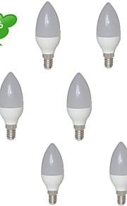 E14 - 6 W- C - Stearinlys Pærer (Warm White 540 lm- AC 85-265