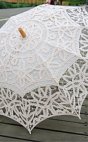 Beige Vintage Style Handmade Battenburglace Umbrella Wedding Bridal Parasol