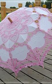 Guarda-chuva Renda/Algodão Casamento/Praia/Diário/Mascarilha