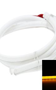 2 x LED Bande 80cm feux 79led 3014smd IP65 étanche lumières décoratives DC12V 5.5W 560-595nm d'orange diurnes