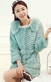 manteau de fourrure à manches longues couverture de fourrure de lapin&fourrure de renard occasion spéciale / manteau de fourrure occasionnels