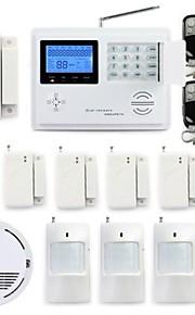 draadloze gsm pstn systeem huis alarmsysteem kit rookmelder sos paniekknop