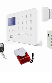 app android gsm sms sikkerhed tyverialarm system detektor sensor fjernbetjening sirene med backup batteri og med bur