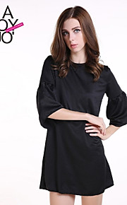 Women's Vintage / Casual Dress Above Knee Polyester