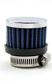 tirol universales del filtro de aire de mini azul de 25 mm de diámetro pequeño auto afilado redondo entrada de aire frío