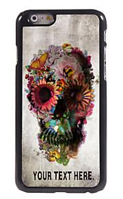 """gepersonaliseerd geval schedel en bloem ontwerp metalen behuizing voor de iPhone 6 (4.7 """")"""