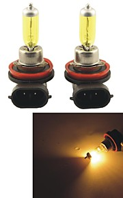 carking ™ Kobo H8 12v 100w 3000K 550lm gult lys bil halogen forlygter (2 cps)