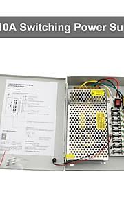 12v 10a dc 9 strømforsyning box auto-reset / 12v10a 120W strømforsyning / switch strømforsyning, 110 / 220V AC input