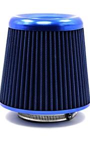 """tirol aluminio universales / 3 filtros de aire afilado redondo de toma de aire de automóviles """"lavable azul"""