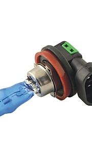 Carking ™ Hod H11 100W 6000K Ultra Lyse Bil Varmt Hvidt Lys Pærer (Dc 12V / Par)