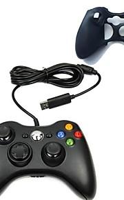nieuwe usb bedrade gamepad joypad controller met siliconen case voor Microsoft Xbox 360 Slim pc
