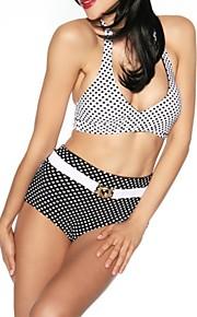 Women's Vintage Halter Dots Bikini Swimwear