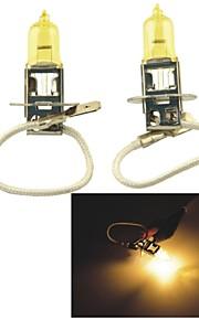 carking ™ Kobo h3 12v 100w 3000k 550lm geel licht auto halogeen koplamp (2 cps)
