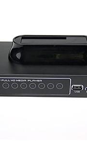 """1080p rm / rmvb / avi / MPEG4 medieafspiller til 2.5 """"/3.5"""" SATA-harddisk med USB-vært og sdhc"""