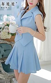 Pink Doll® Women's Tailor Collar Elegant OL Sleeveless Jumpsuits