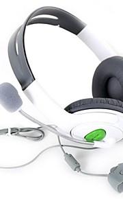 hvide højttalere i høj kvalitet surround gaming headset stereohovedtelefoner øretelefon med micphone til Xbox 360 mic til X360