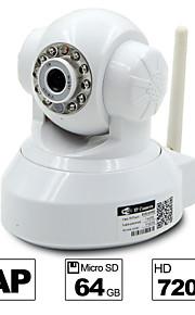 besteye® hd1280 * 720p h.264 wifi ip camera 1.0m PTZ ir nachtzicht bedrade / wirless 64GB TF-kaart