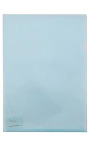 עמוד אחד בבית ספר שקוף פלסטיק A4 ותיקיית נייר עסקי (20pcs / צבע אקראי)